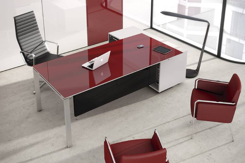 bureau de direction verre of mobilier de bureau discount burostock. Black Bedroom Furniture Sets. Home Design Ideas